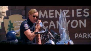 John C. McGinley's extremely gay highway patrolman returns in the Alternate Ending.