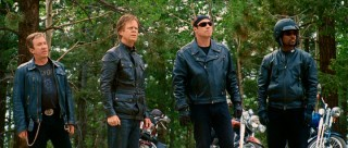 The Wild Hogs pose in a naturally-balanced 4-shot, to which the 2.40:1 widescreen framing is conducive.