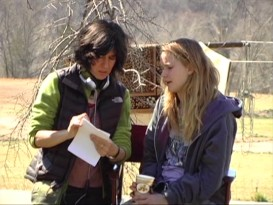 "Debra Granik gives Jennifer Lawrence direction in ""The Making of 'Winter's Bone.'"""