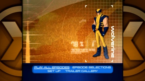 Wolverine, whose top billing seems undeserved based solely on the Final Crisis arc, is the first of five X-Men loaded in the DVD's Cerebro Online database main menu. Despite the lack of a dedicated page, there are audio commentaries.