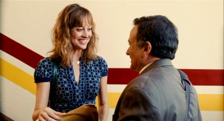 Art teacher Claire Reed (Alexie Gilmore) wears a big smile at seeing Lance, but only when nobody's looking.