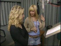 "Brittany Snow and Ashley Tisdale in ""Behind the Microphone."""