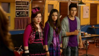 Harper (Jennifer Stone), Alex (Selena Gomez), and Justin (David Henrie) get caught in the aftermath of some dangerous subway magic in the movie's New York-set opening.