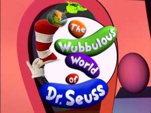 "The Season 1 title logo for ""The Wubbulous World of Dr. Seuss"" displays both of the series' primary tools: puppetry and computer animation."