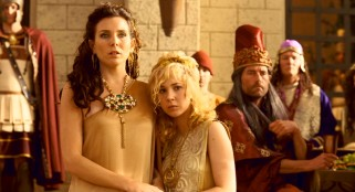 The love interests, Maya (June Diane Raphael) and Eema (Juno Temple), spend most of the movie as hot slave girls.