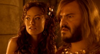 Princess Inanna (Olivia Wilde) explains to Zed (Jack Black) that she thinks he may be chosen to enter the Holy of Holies.