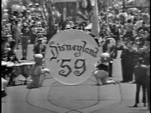 "Can you guess what mouse is about to break through that paper in the opening parade of ""Disneyland '59""?"
