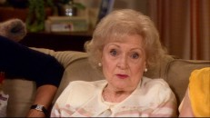"What a wacky old gal! Betty White gives some questionable advice to viewers in ""Ask the Cast."""