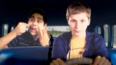Vijay (Adhir Kaylan) does some backseat flossing in this extended version of his and Nick's animated paper cut-out drive to Sheeni's French school.