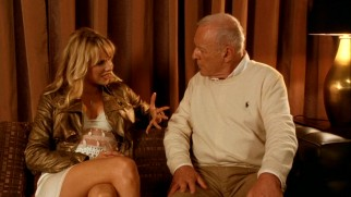 Aging but active Alfie (Anthony Hopkins) quickly gets serious with young actress turned call girl Charmaine (Lucy Punch).
