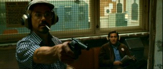 Firing one off in a shooting gallery, Robert Downey Jr. turns in a good performance as Paul Avery, the fast-talking, unstable San Francisco Chronicle reporter who's covering the Zodiac case.