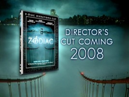 There are no bonus features here, but they're definitely coming, as this promo for the Zodiac: 2-Disc Director's Cut DVD re-release shows us.