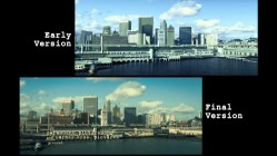 "The seamless vintage skyline seen at the beginning of the film is deconstructed in ""The Visual Effects of 'Zodiac.'"""