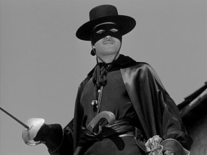 ...until he secretly becomes Zorro, dashing outlaw and masked friend to the people.