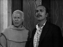 Unjustly arrested Nacho Torres (Jan Arvan) and sanctuary-providing Padre Felipe (Romney Brent) figure prominently in back to back episodes set at the priest's mission.