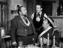 A drug intended to make one pass out takes sudden effects on Judge Vasca (guest star Sebastian Cabot).