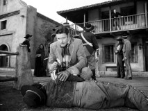 "Again with the eagle's feather. Don Diego finds one in the back of a dead man on the street in ""Sweet Face of Danger."""