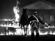 "Zorro's horse Tornado is captured, auctioned, and at the center of a fence fire in ""Zorro Springs a Trap."""