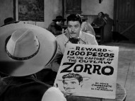 "El Cuchillo's sketching of Diego on a bounty poster brings him close to Zorro's identity in second 1-hour episode, ""Adios El Cuchillo."""