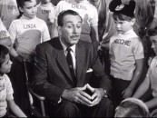 "Walt Disney gives into Moochie and other Mouseketeer's pleadings by saying a bit about Zorro in ""The Fourth Anniversary Show."""
