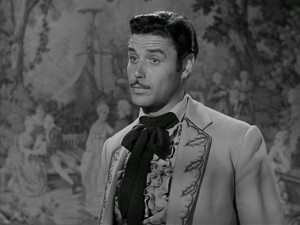 By night, our hero is Zorro, but his day job is that of respected thinker and peacemaker, Don Diego de la Vega (Guy Williams).