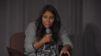 Writer/director Haifaa Al Mansour answers questions about her historic debut at a Directors Guild of America event.