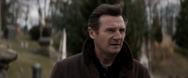 "In ""A Walk Among the Tombstones"", cop turned unlicensed private eye Matt Scudder (Liam Neeson) looks for answers at a graveyard."