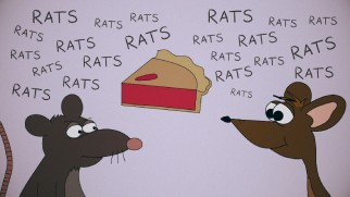 "The animated short ""Pentagon Pie"" uses rats to explain Fed Biz Opps."