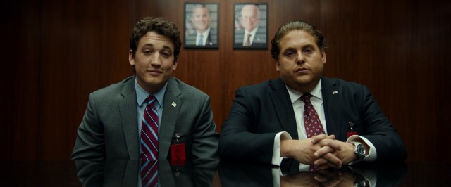 David (Miles Teller) and Efraim (Jonah Hill) show up stoned for the meeting where they land a huge multi-million dollar contract, by coming in way below the competition.