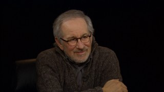 "Sitting at the head of a roundtable gathering his friends, Steven Spielberg can't help but smile in ""The Journey Home."""