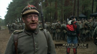 "In costume as a German soldier, Martin D. Dew provides ""An Extra's Point of View."""