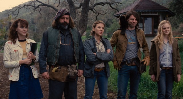 Meet the staff that comes with the Rosemoor Wildlife Park: left to right, Carla Gallo, Angus MacFayden, Scarlett Johansson, Patrick Fugit, and Elle Fanning.