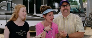 Fellow small town RV-vacationing family the Fitzgeralds (Molly Quinn, Kathryn Hahn, and Nick Offerman) befriend the Millers.