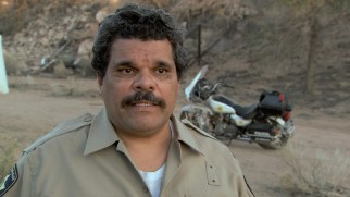 "Luis Guzmán discusses his bribable Mexican cop in ""Getting Out of a Sticky Situation."""