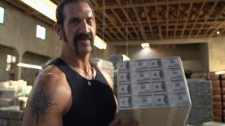 """When Paranoia Sets In"" posits the movie was just a front for actual drug smuggling, suggesting that actor Matthew Willig is holding real cash here."