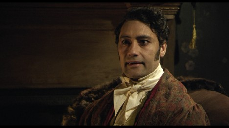 Viago (Taika Waititi) gives an interview.