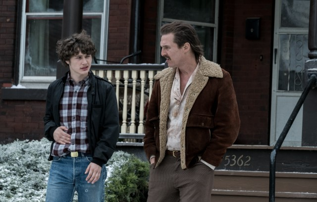 "Richie Merritt plays teenaged FBI informant Rick Wershe Jr. and Matthew McConaughey plays his father in the crime drama ""White Boy Rick."""