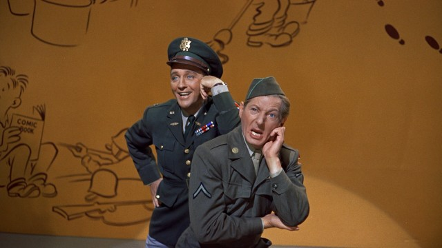 Gee, these two veterans (Bing Crosby and Danny Kaye) wish they were back in the Army.