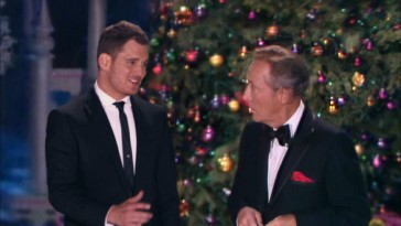"In 2012, Michael Bublé crashes Bing Crosby's 1971 NBC television special for a technology-enabled ""White Christmas"" duet."