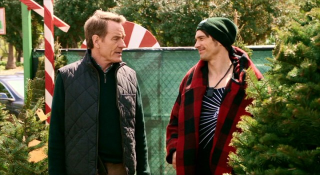 "Ned Fleming (Bryan Cranston) doesn't know what his daughter sees in hey boyfriend Laird Mayhew (James Franco) in the comedy ""Why Him?"""