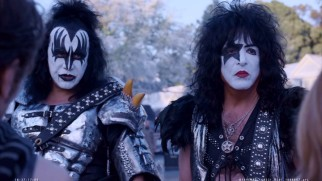 A deleted scene gives us more of Gene Simmons and Paul Stanley in their full Kiss regalia.
