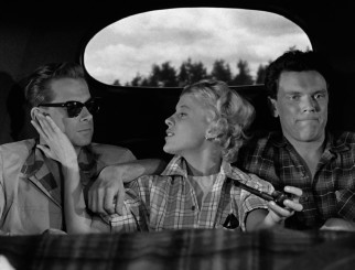 A young love triangle (Björn Bjelfvenstam, Bibi Andersson, and Folke Sundquist) headed for Italy takes the back seat on this road trip to Lund.