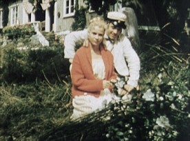 "Some color footage takes us behind the scenes of ""Wild Strawberries."""
