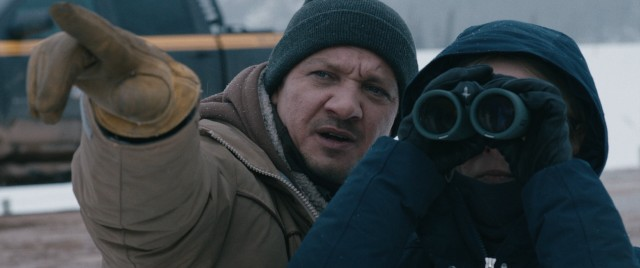 "In ""Wind River"", Fish & Wildlife officer Cory Lambert (Jeremy Renner) helps an FBI agent (Elizabeth Olsen) investigate a disappearance/homicide."