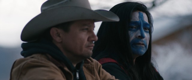 Cory Lambert (Jeremy Renner) is uniquely equipped to lend comfort to Martin Hanson (Gil Birmingham), the father of the Native American woman whose murder is being investigated.