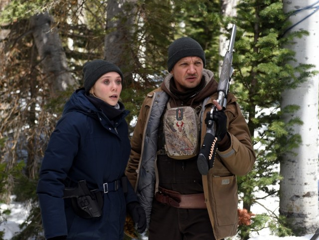 "In ""Wind River"", an FBI agent (Elizabeth Olsen) and local Fish & Wildlife officer (Jeremy Renner) team up to solve a murder."