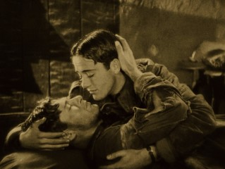 "This scene between Jack (Charles ""Buddy"" Rogers) and David (Richard Arlen) includes one of cinema's first same-sex kisses, but there's nothing gay about it."