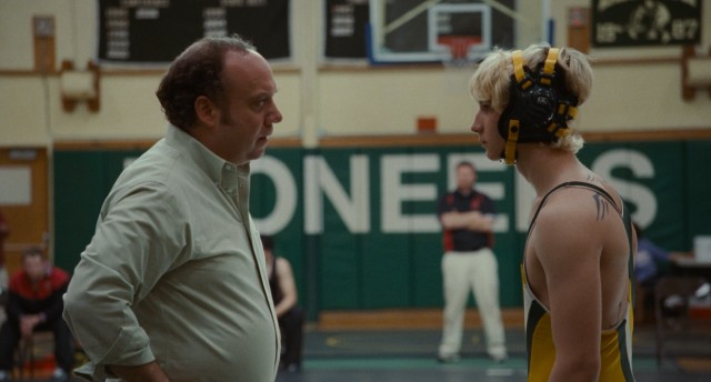 "Wrestling coach Mike Flaherty (Paul Giamatti) and teenaged wrestler Kyle Timmons (Alex Shaffer) are just what the other needs in ""Win Win."""