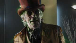 Christopher Lloyd makes a few fleeting appearances, many of them holographic, as The Wizard of Oz, who looks more like Wonderland's Mad Hatter than Frank Morgan.
