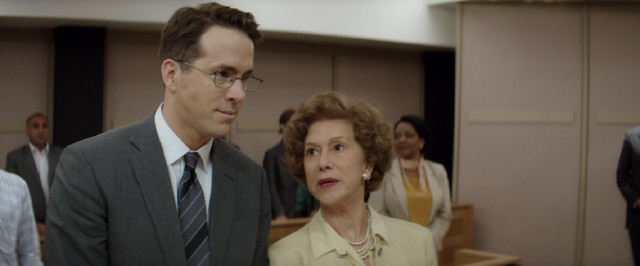 "In ""Woman in Gold"", Maria Altmann (Helen Mirren) and Randy Schoenberg (Ryan Reynolds) take legal action against the Austrian government in a drawn-out art restitution case."